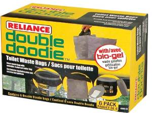 Double Dootie Bag For Hassock Portable Toilet