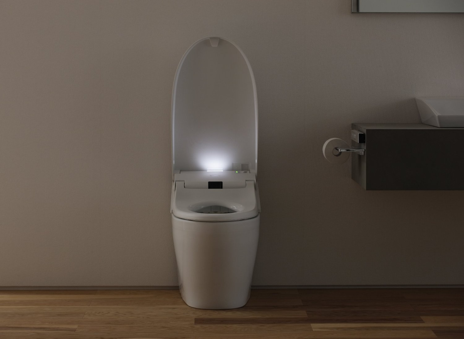 Toto Neorest self closing toilet