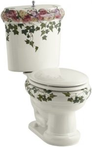 peonies and ivy toilet