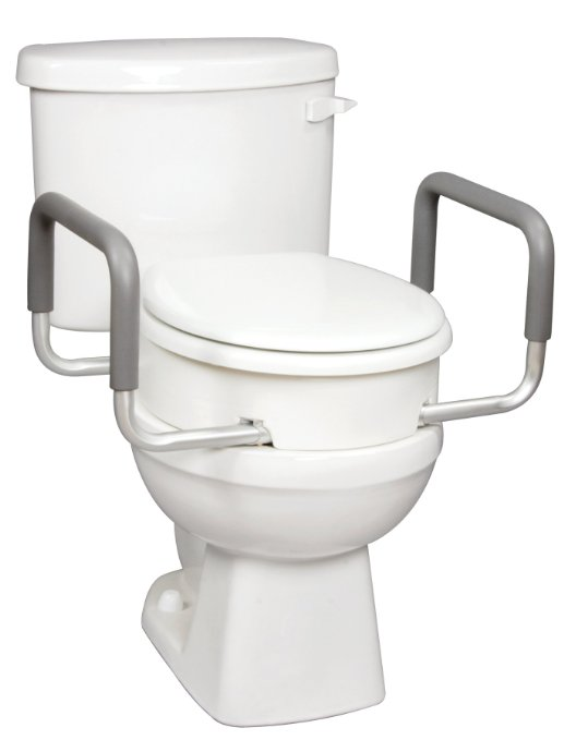 carex health brands toilet seat elevator with handles