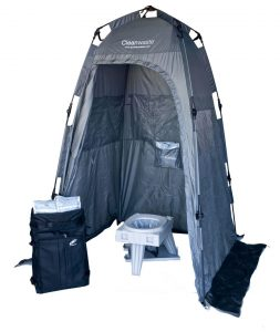 cleanwaste go anywhere portable toilet for camping
